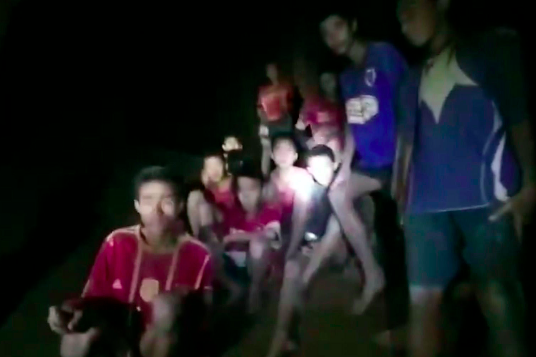 The 12 boys and their coach were discovered Monday night. (Photo: PA)