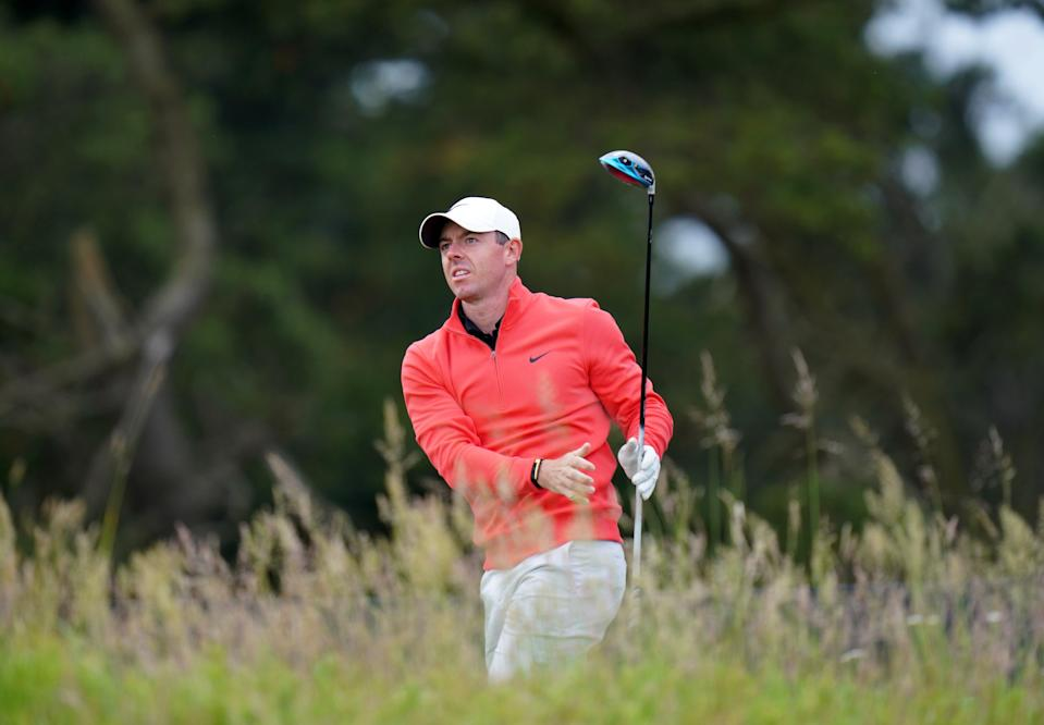 Rory McIlroy on the 10th tee during day two of the abrdn Scottish Open (PA Wire)