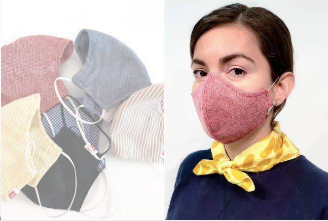 "These cotton face masks fully cover the nose and mouth and have a HEPA filter for an extra layer of protection. For every mask bought, the company will donate a mask to workers on the front lines.<br><br><strong><a href=""https://www.hedleyandbennett.com/products/preorder-the-wake-up-fight-mask-buy-one-give-one"" rel=""nofollow noopener"" target=""_blank"" data-ylk=""slk:Get"" class=""link rapid-noclick-resp"">Get</a><a href=""https://www.hedleyandbennett.com/products/preorder-the-wake-up-fight-mask-buy-one-give-one"" rel=""nofollow noopener"" target=""_blank"" data-ylk=""slk:The Wake Up And Fight Mask for $22"" class=""link rapid-noclick-resp""> The Wake Up And Fight Mask for $22</a></strong>"