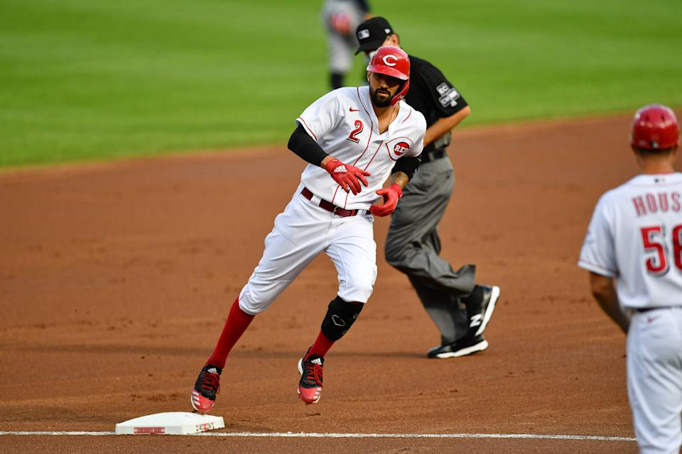 Nick Castellanos is already making his presence known with the Reds. (Photo by Jamie Sabau/Getty Images)