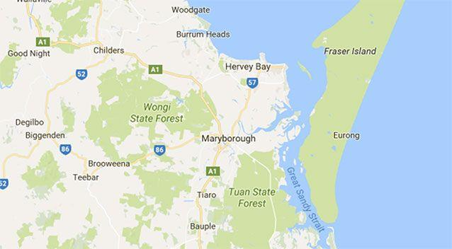 Emergency crews were called to the scene about 6 kilometres north of Tiaro at about 3.15pm on Monday. Source: Google