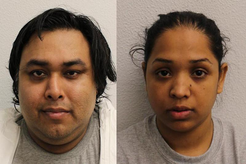 Found guilty: Mohammed Miah and Rebeka Nazmin have been convicted over the death of their baby son: Met Police