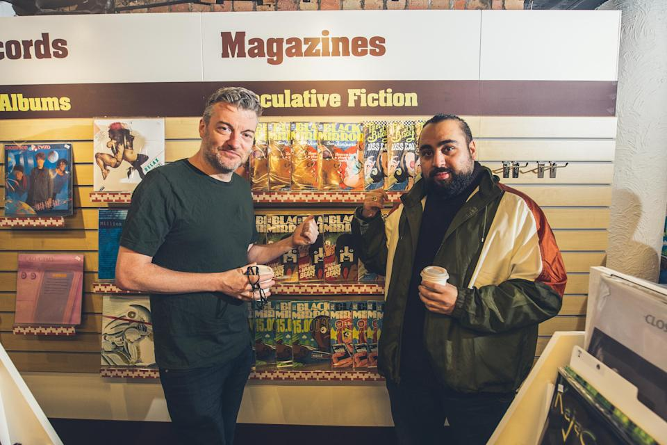 Charlie Brooker and Asim Chaudhry at the <i>Bandersnatch</i> launch (Netflix)