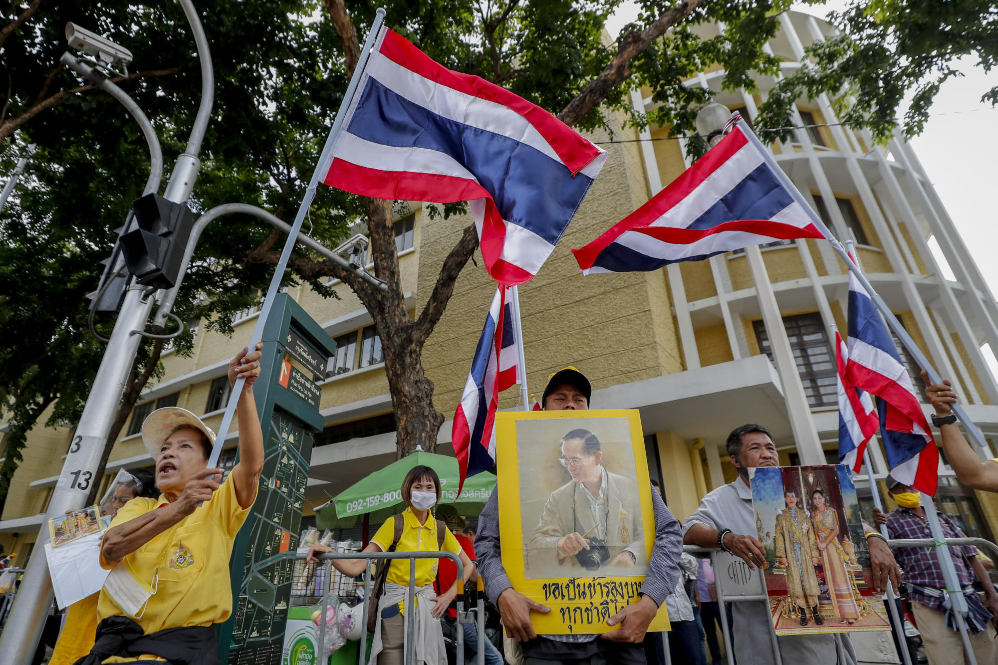 Thai police use water cannons on pro-democracy protesters