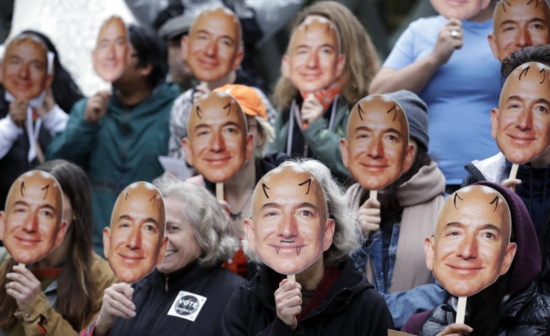 Jeff Bezos: alvo de protestos. (Foto: AP Photo/Elaine Thompson)