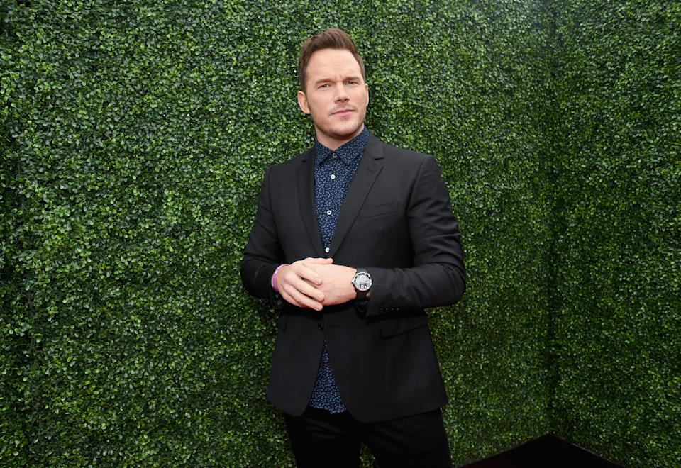 SANTA MONICA, CA - JUNE 16:  Actor Chris Pratt attends the 2018 MTV Movie And TV Awards at Barker Hangar on June 16, 2018 in Santa Monica, California.  (Photo by Emma McIntyre/Getty Images for MTV)