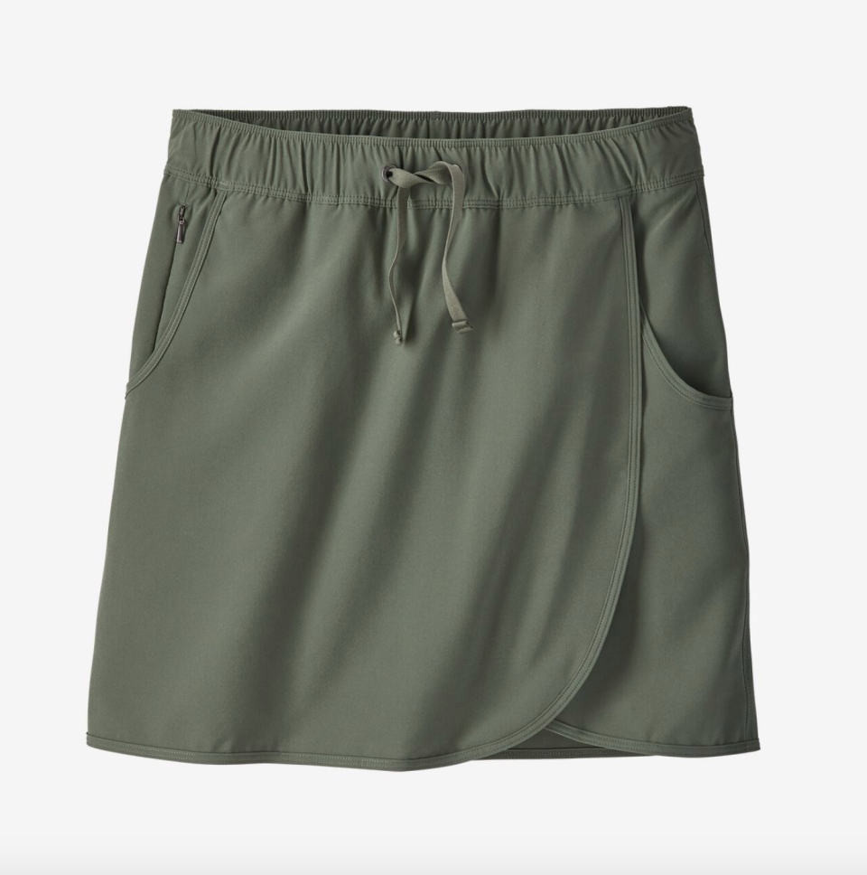 """<p><strong>Patagonia </strong></p><p>patagonia.com</p><p><strong>$59.00</strong></p><p><a href=""""https://www.patagonia.com/product/womens-fleetwith-skort/192964478015.html"""" rel=""""nofollow noopener"""" target=""""_blank"""" data-ylk=""""slk:SHOP IT"""" class=""""link rapid-noclick-resp"""">SHOP IT</a></p><p>This multifunctional skort is meant to be worn for a variety of summertime activities, from your casual summer bike rides to games on the court. The skort is made from a recycled poly and spandex blend for max stretchiness and comfort. Scoop it up in a few more colors to keep in your daily rotation.</p>"""