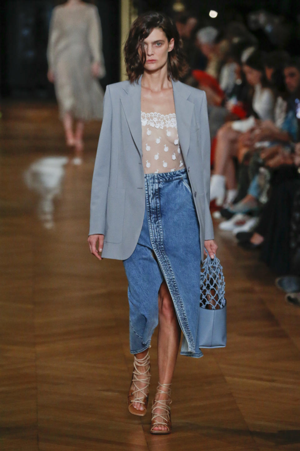 PARIS, FRANCE - SEPTEMBER 30: A model walks the runway during the Stella McCartney Ready to Wear Spring/Summer 2020 fashion show as part of Paris Fashion Week on September 30, 2019 in Paris, France. (Photo by Victor VIRGILE/Gamma-Rapho via Getty Images)