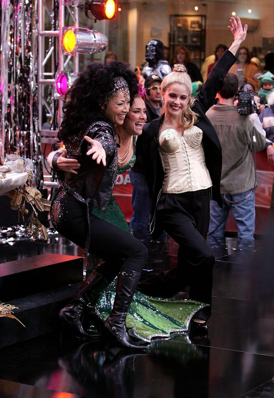 <p>The fabulous and nautical party continues with Ann Curry as music mogul Cher and Meredith Vieira as Bette Midler's mermaid character Delores DeLago in <em>The Showgirl Must Go On. </em></p>