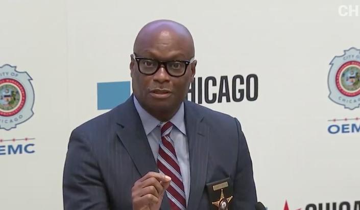 Chicago Police Supt. David Brown defended his policing strategy in response to widespread looting on Sunday. (Patch Photo/ Mark Konkol)