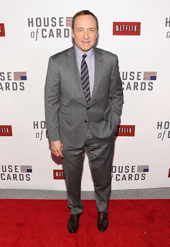 "Kevin Spacey attends Netflix's ""House of Cards"" Washington DC Screening at the NEWSEUM on January 29, 2013 in Washington, DC."