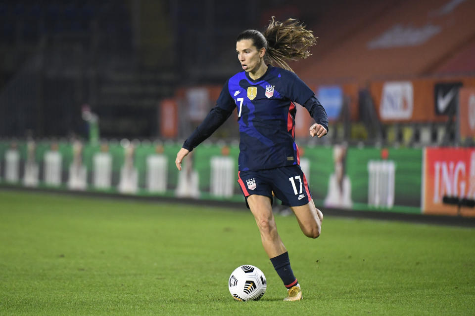 Tobin Heath in USWNT kit.