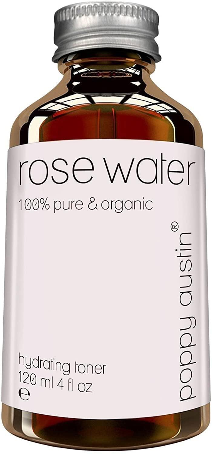 <p>Hydrate your skin with the luxurious <span>Poppy Austin Pure Rose Water Facial Toner</span> ($20). </p>