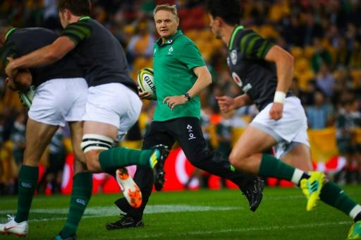 All Black Dane Coles believes coach Joe Schmidt (C) has given the Irish a much more formidable array of skills than they had in the past