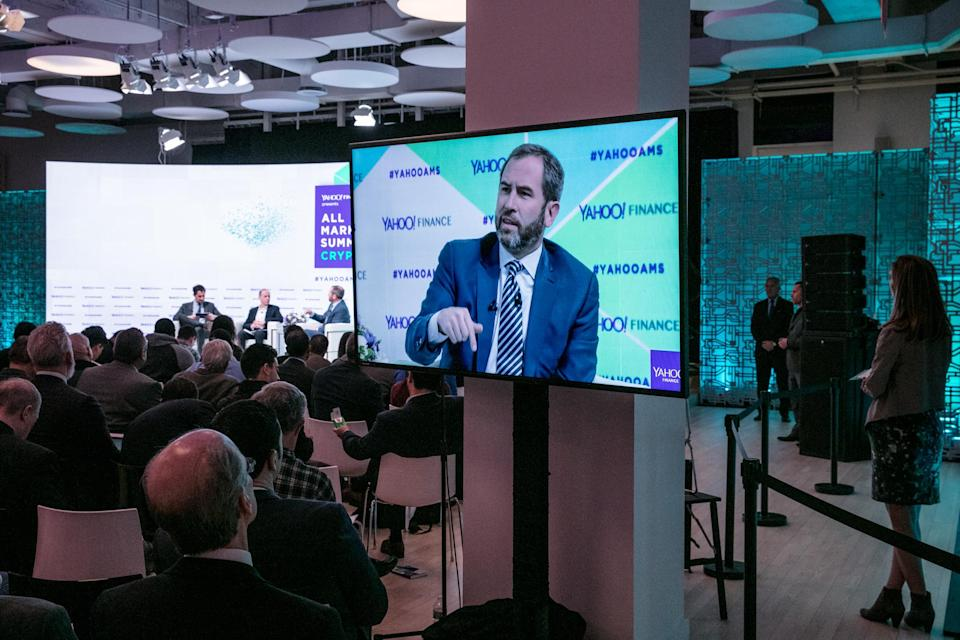 Ripple CEO Brad Garlinghouse at the Yahoo Finance All Markets Summit: Crypto on Feb. 7, 2018 in New York. (Gino DePinto/Oath)