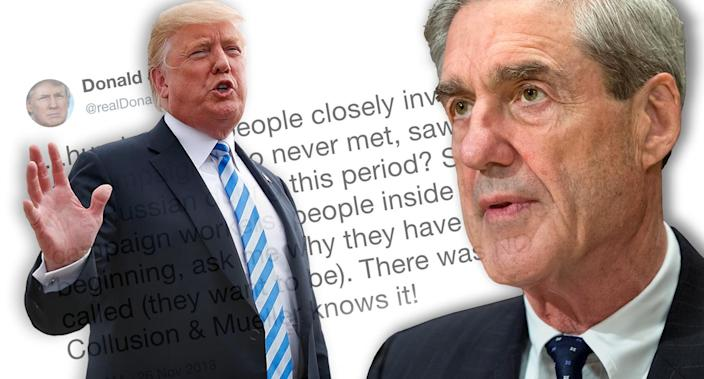 Donald Trump, Robert Mueller (Photo illustration: Yahoo News; photos: AP)