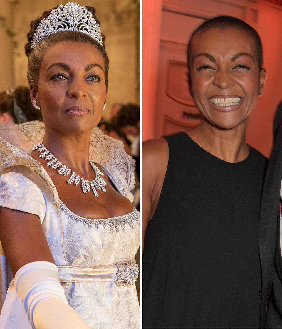 """As Lady Danbury, Adjoa Andoh undoubtedly plays the most fun character on <em>Bridgerton</em>. As Andoh tells <em>Glamour,</em> """"She's got loads of money, she's a powerhouse in the town, a friend of the Queen's, and she knows all the strategies and all the manipulations that need to go on. For women in this period, she's about as free as you can be. And then she gets together with her girlfriends, plays cards, smokes, drinks…she's just living her best life."""""""