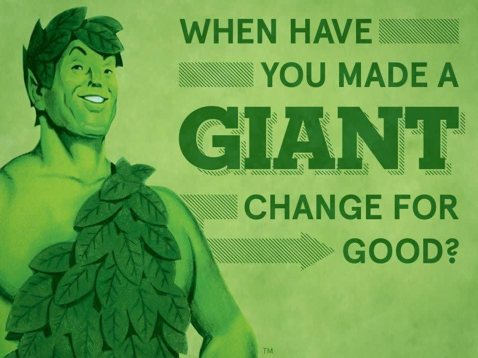 Because who wouldn't want to buy Green Giant's packaged vegetables from this guy?