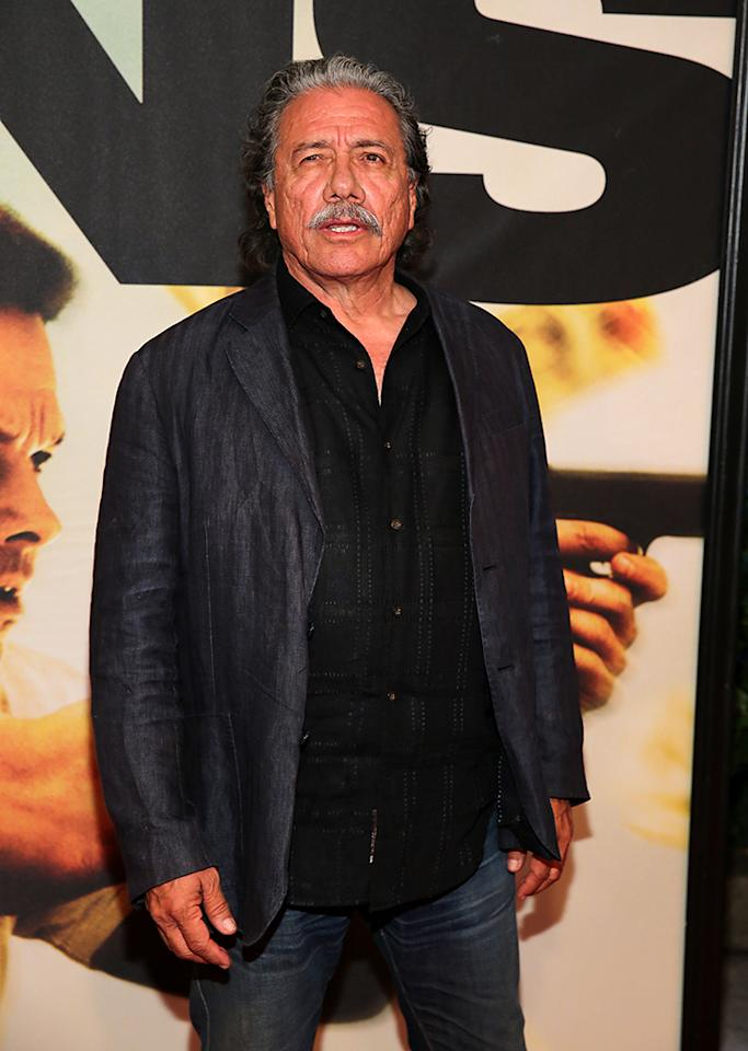 "NEW YORK, NY - JULY 29:  Edward James Olmos attends ""2 Guns"" New York Premiere at SVA Theater on July 29, 2013 in New York City.  (Photo by Neilson Barnard/Getty Images)"