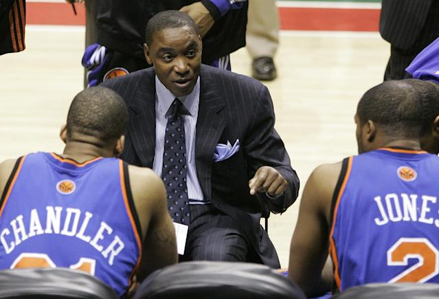 Isiah Thomas was forced to coach the Knicks in 2006. (AP)