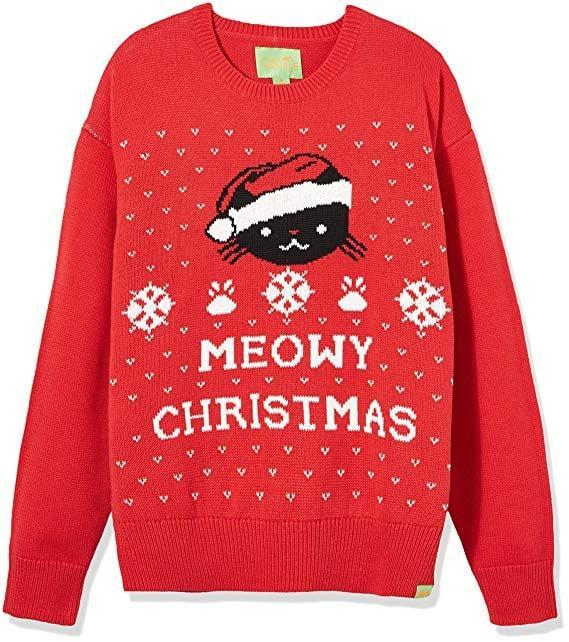 """<p>The cat lady in your life will love this <a rel=""""nofollow noopener"""" href=""""https://www.popsugar.com/buy/Ugly%20Fair%20Isle%20Jacquard%20Meowy%20Christmas%20Crewneck%20Sweater-395443?p_name=Ugly%20Fair%20Isle%20Jacquard%20Meowy%20Christmas%20Crewneck%20Sweater&retailer=amazon.com&price=30&evar1=moms%3Aus&evar9=45559600&evar98=https%3A%2F%2Fwww.popsugar.com%2Fmoms%2Fphoto-gallery%2F45559600%2Fimage%2F45559611%2FUgly-Fair-Isle-Jacquard-Meowy-Christmas-Crewneck-Sweater&list1=shopping%2Csweaters%2Choliday%2Cchristmas%2Cwinter%2Cwinter%20fashion&prop13=desktop&pdata=1"""" target=""""_blank"""" data-ylk=""""slk:Ugly Fair Isle Jacquard Meowy Christmas Crewneck Sweater"""" class=""""link rapid-noclick-resp"""">Ugly Fair Isle Jacquard Meowy Christmas Crewneck Sweater</a> ($30).</p>"""