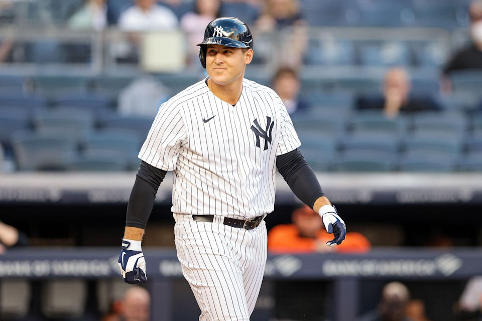 Yankees first baseman Anthony Rizzo was acquired at the trade deadline.