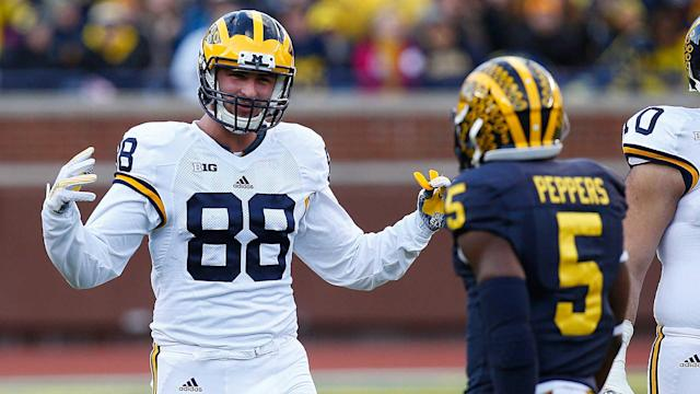 Michigan's Jake Butt said he doesn't necessarily think the NCAA should pay athletes, but the player likeness issue is something that needs fixed.