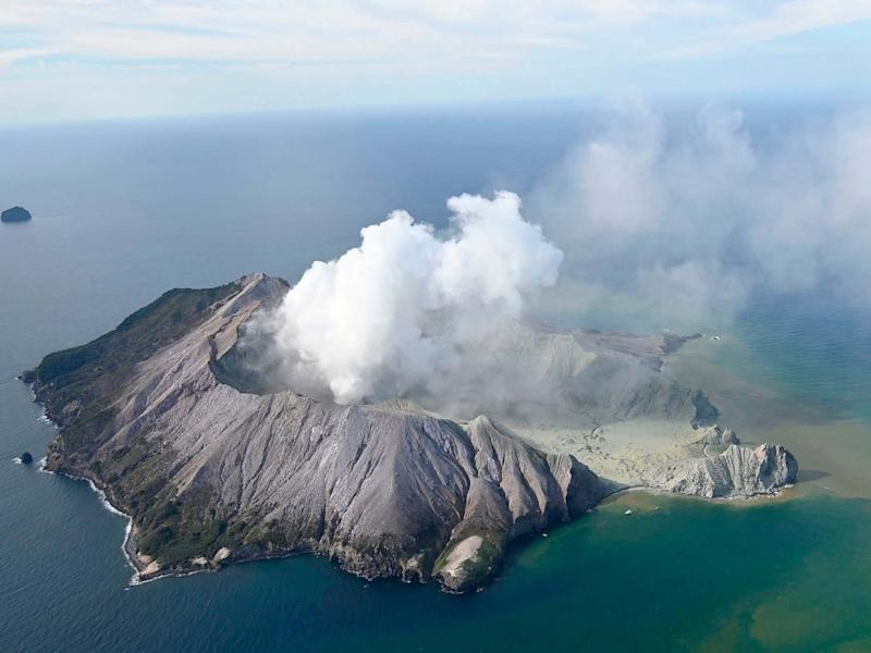 White Island after its volcanic eruption in New Zealand: George Novak/New Zealand Herald via AP