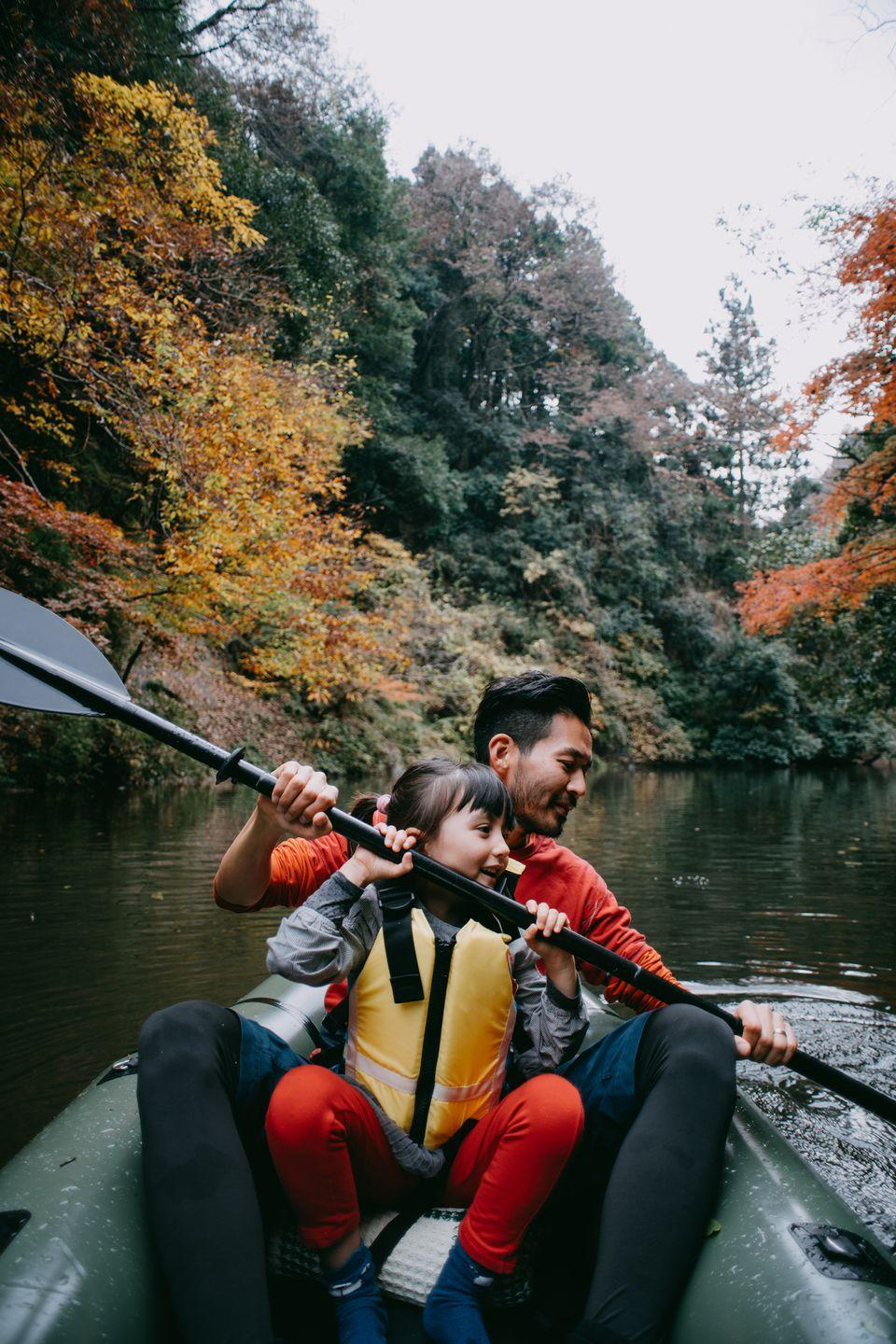 <p>Take your family outside for your staycation. Try a new activity or a family-favorite hobby, such as kayaking or biking to get outside and feel immersed in nature.</p>