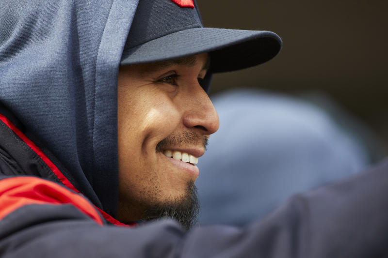 Three months after leaving baseball to treat leukemia, Carlos Carrasco is slated to return to the mound for a playoff contender. (Reuters)