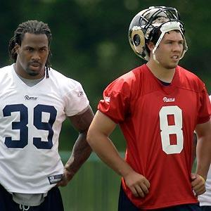 """Steven Jackson isn't shy on pushing for Rams rookie QB Sam Bradford. """"If he's the best guy, he needs to play now,"""" Jackson said. """"I don't want to wait four years like the Packers did with Aaron Rodgers."""""""