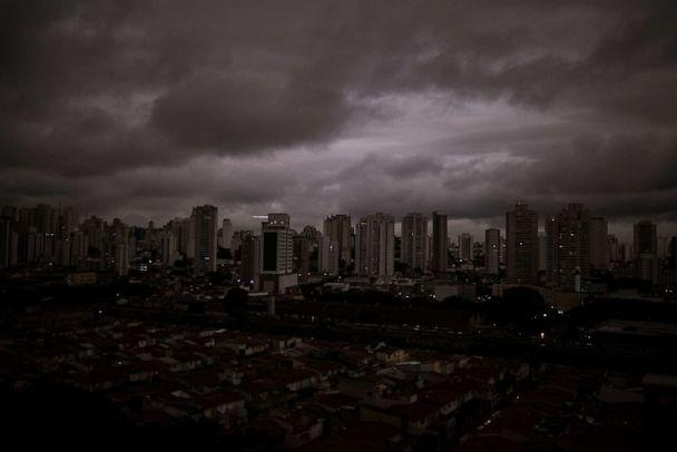 PHOTO: Residents from Sao Paolo have recently reported black rain from fires in the Amazon, Aug. 19, 2019. (Andre Lucas/picture-alliance/dpa/AP Images)