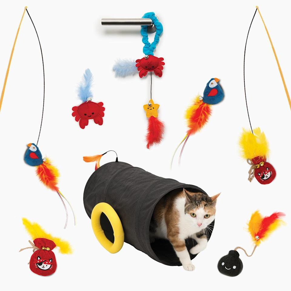 <p>Keep your kitty coworker occupied while you're on Zoom calls with this play tunnel that comes with oodles of adorable attachments. </p> <p><strong>Buy it!</strong> Catit Pirate Variety Pack, $29.99; <span>Catit.com</span></p>