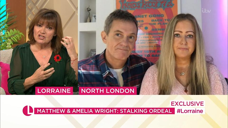 Lorraine Kelly interviewed the pair about their traumatising experience (Photo: ITV/Shutterstock)