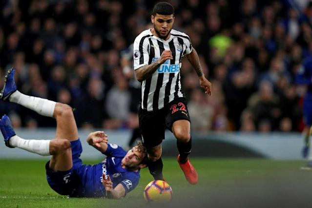 Newcastle's American defender DeAndre Yedlin has spoken out about racism in the United States (AFP Photo/Adrian DENNIS)