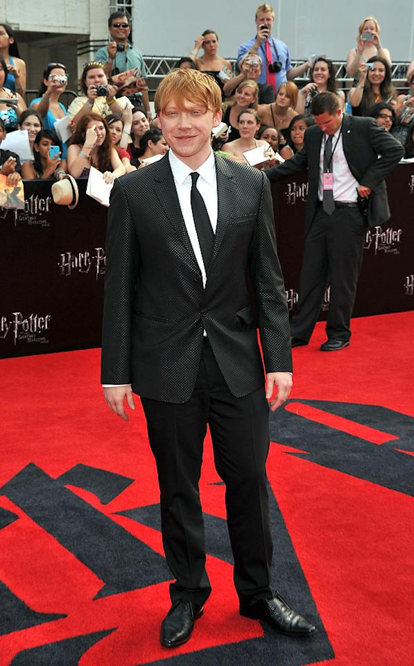 """<a href=""""http://movies.yahoo.com/movie/contributor/1802866082"""">Rupert Grint</a> at the New York City premiere of <a href=""""http://movies.yahoo.com/movie/1810004624/info"""">Harry Potter and the Deathly Hallows - Part 2</a> on July 11, 2011."""
