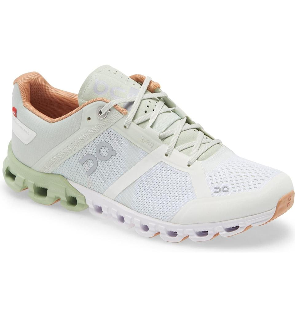 <p>If you want to get moving, this <span>On Running Cloudflow Running Shoe</span> ($140) is a cute, supportive pick. </p>