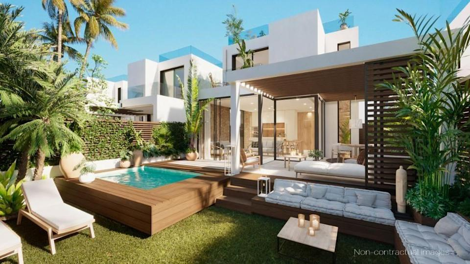 """<p>It's no surprise to see this luxury villa in the most-viewed list. Inside you'll discover three bedrooms, a private jacuzzi, chic interiors, Ibizan-style materials and a paddle tennis court, too. When can we move in?</p><p>This property is currently on the market for €627,500 with Ncalma Homes, Tarida, via <a href=""""https://www.rightmove.co.uk/properties/95762786#/"""" rel=""""nofollow noopener"""" target=""""_blank"""" data-ylk=""""slk:Rightmove"""" class=""""link rapid-noclick-resp"""">Rightmove</a>. </p><p><strong>Follow House Beautiful on <a href=""""https://www.instagram.com/housebeautifuluk/"""" rel=""""nofollow noopener"""" target=""""_blank"""" data-ylk=""""slk:Instagram"""" class=""""link rapid-noclick-resp"""">Instagram</a>.</strong></p>"""