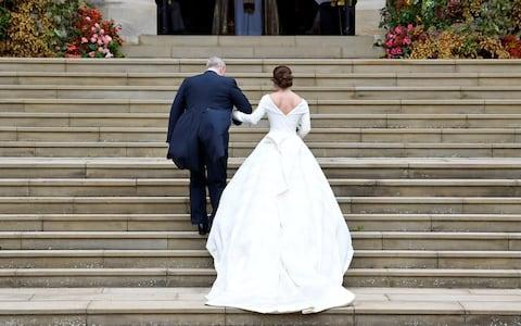 Princess Eugenie's dress - Credit: Reuters