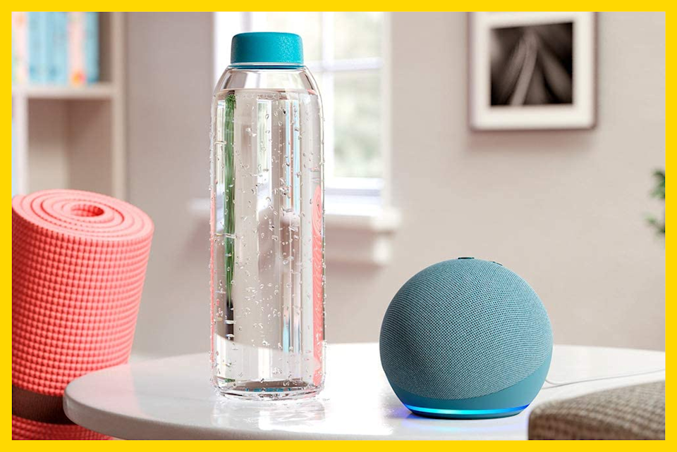 You got your yoga mat and your H2O...how about some soothing tunes to complete your serene morning limbering? (Photo: Amazon)