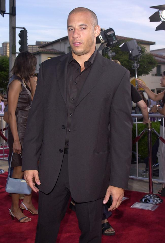 <p>After breakthrough roles in <em>Saving Private Ryan</em> and <em>Boiler Room</em>, the then-34-year-old actor made his debut as elite street racer and ex-con Dominic Toretto in <em>The Fast and The Furious</em>. (Photo: J. P. Aussenard/WireImage) </p>