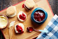 """Neither long simmering nor heat-canned, this vibrant, lightly spiced jam couldn't be simpler to prepare. Red-fleshed plums lend a gorgeous garnet color, but any variety works well. <a href=""""https://www.epicurious.com/recipes/food/views/plum-freezer-jam-with-cardamom-and-ginger-56390136?mbid=synd_yahoo_rss"""" rel=""""nofollow noopener"""" target=""""_blank"""" data-ylk=""""slk:See recipe."""" class=""""link rapid-noclick-resp"""">See recipe.</a>"""