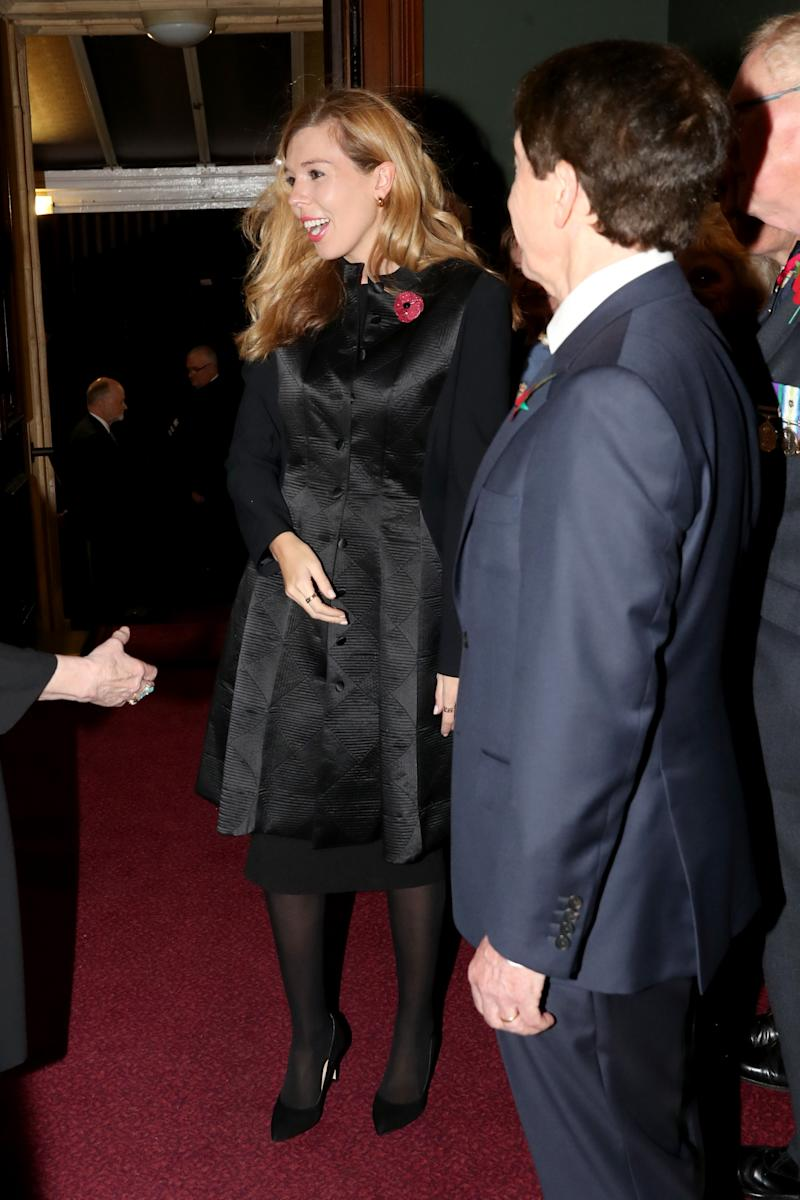 Boris Johnson's partner hired the outfit she wore to the Royal Festival of Remembrance in November from My Wardrobe HQ