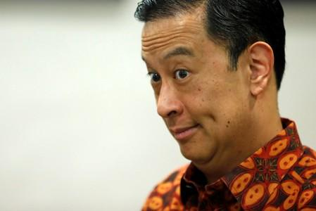 Chief of Indonesia's BKPM Thomas Lembong reacts during an interview with Reuters in Jakarta