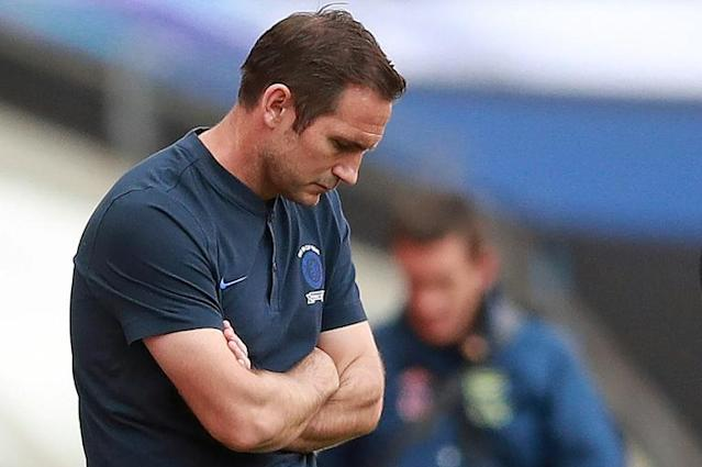 'Tipping point': Chelsea coach Frank Lampard at Wembley on Saturday (AFP Photo/Adam Davy)