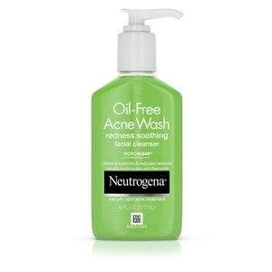 "<h2>Neutrogena Oil-Free Acne Wash Redness Soothing Cleanser</h2> <br>""This cleanser is light and has salicylic acid that will help unclog pores and reduce acne,"" Dr. Gabriel says. ""It also has soothing ingredients like aloe and chamomile to calm irritation and reduce redness.""<br><br><strong>Neutrogena</strong> Neutrogena Oil-Free Acne Wash Redness Soothing Cleanser, $, available at <a href=""https://go.skimresources.com/?id=30283X879131&url=https%3A%2F%2Fwww.cvs.com%2Fshop%2Fneutrogena-oil-free-acne-wash-redness-soothing-facial-cleanser-6-oz-prodid-1020005"" rel=""nofollow noopener"" target=""_blank"" data-ylk=""slk:CVS"" class=""link rapid-noclick-resp"">CVS</a><br>"