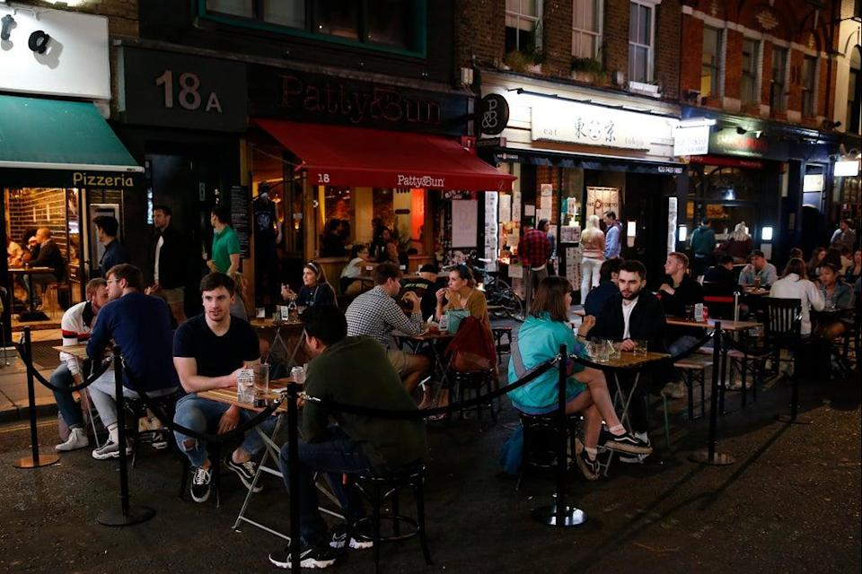Outdoor seating areas in Soho (Getty Images)