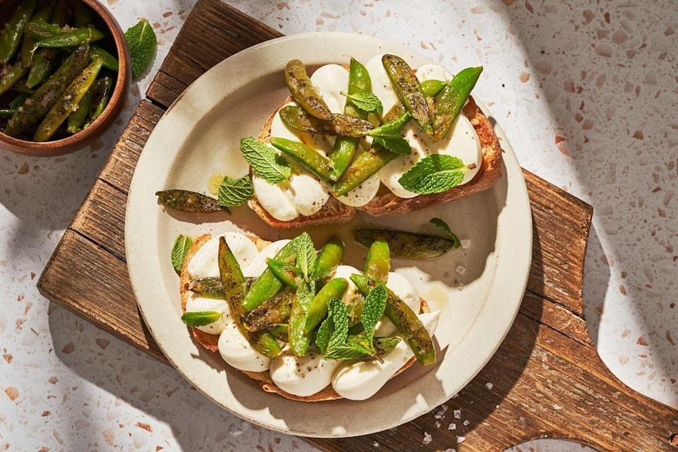"""<p>Whip these up in minutes.</p><p>Get the recipe from <a href=""""https://www.delish.com/cooking/a36276712/whipped-ricotta-toast-recipe/"""" rel=""""nofollow noopener"""" target=""""_blank"""" data-ylk=""""slk:Delish"""" class=""""link rapid-noclick-resp"""">Delish</a>.</p>"""