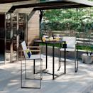 <p>Add a twist of modern function to your outdoor dining with the <span>Henning Three-Piece Patio Bar-Height Set</span> ($400).</p>