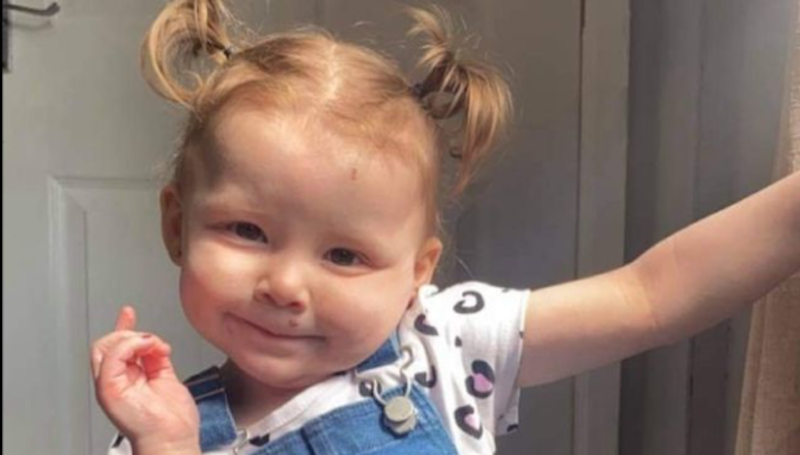Two-year-old Harper-Lee Fanthorpe died after swallowing a remote control battery. (Reach)